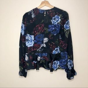 Zara Floral Peplum Top